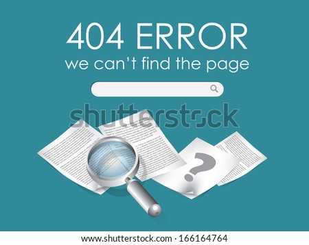 404 Page not found vector - stock photo