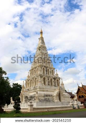 "Pagoda at ancient buddhist temple ""Wat Chedi Liam"" at Wiang Kum Kam, Chiangmai Thailand. - stock photo"