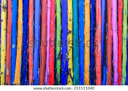 Painted wood wall background  - stock photo