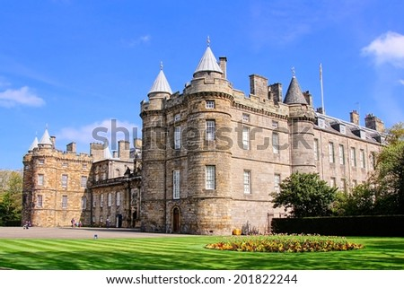 Palace of Holyroodhouse, official residence of the Queen in Scotland - stock photo