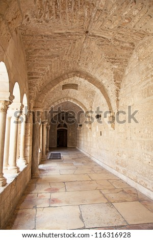 Palestin. The city of Bethlehem. aNativity church door, bethlehem, west bank, palestine, israehurch of the Nativity of Jesus Christ - stock photo