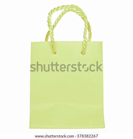 Paper bag shopper isolated over white background vintage