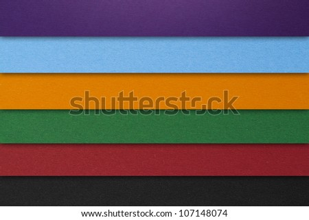 paper in various colors - stock photo