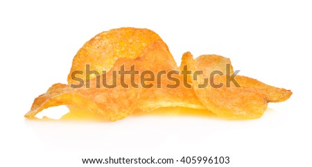 paprika chips on a white background