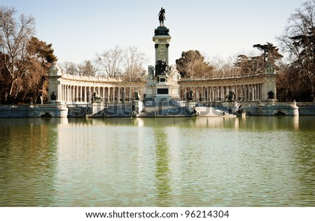 Parque de Retiro in the center of Madrid