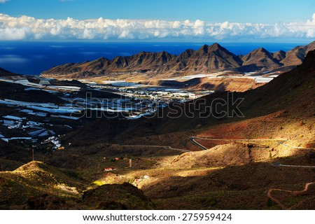 Parque Natural de Pilancones in Gran Canaria, Canary Islands, Spain - stock photo