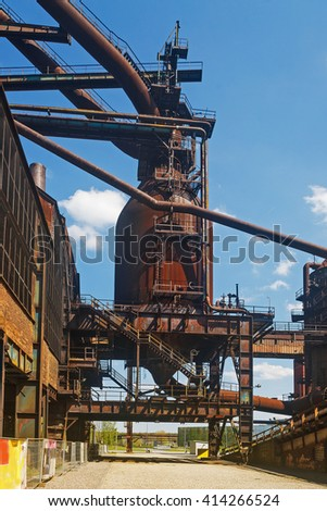 Part of the old steelworks Ví­tkovice, Ostrava - stock photo