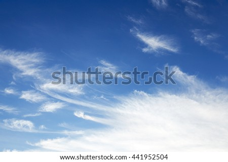 part of the sky photographed while on its cloud, small depth of field