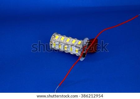 parts of led light bulb - stock photo