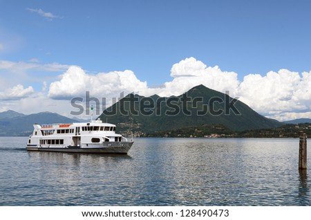 Passenger ship on Lake Maggiore