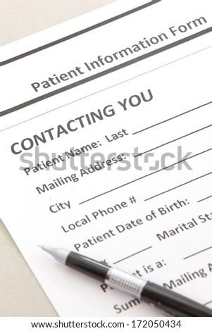 Patient Form - stock photo