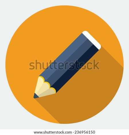 Pencil icon - stock photo