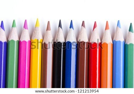 Pencils background - stock photo