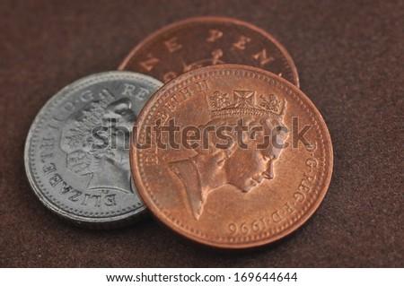 1 Penny - Elizabeth II Queen - stock photo