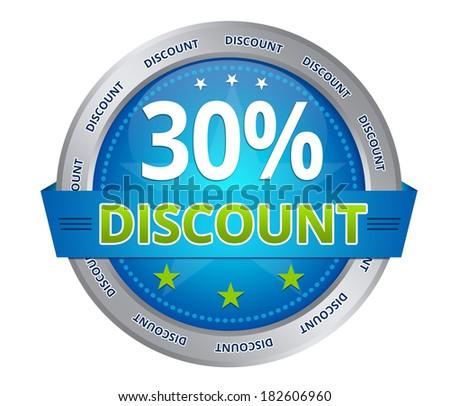 30 percent discount - stock photo