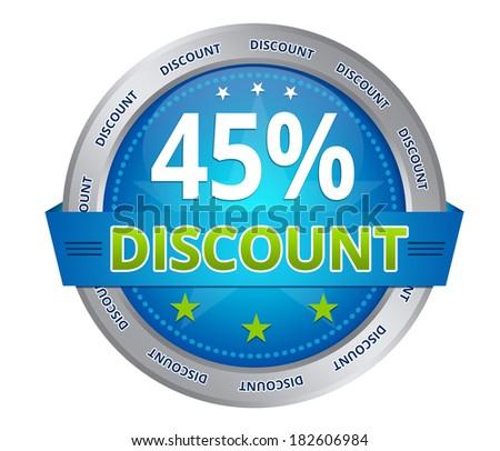 45 percent discount - stock photo
