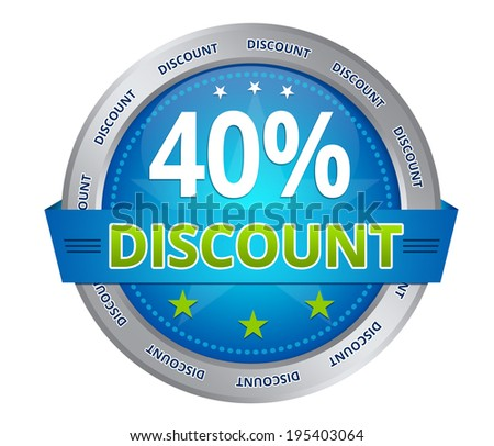 40 percent discount - stock photo