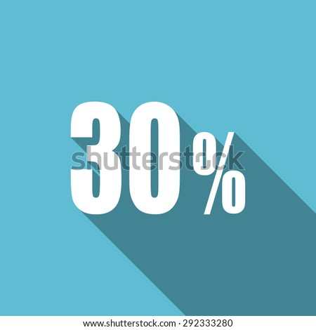 30 percent flat icon sale sign original modern design flat icon for web and mobile app with long shadow  - stock photo