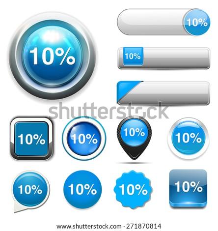 10 percent icon - stock photo