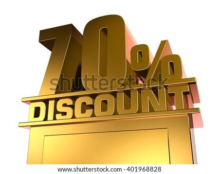 70 percent off discount - stock photo