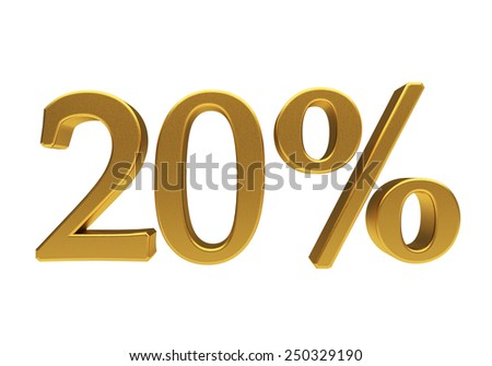 20 percent off. Discount 20. 3D illustration - stock photo