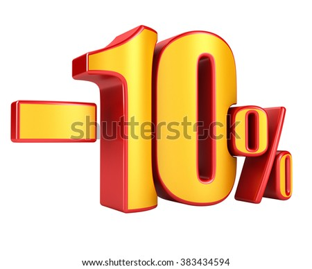 -10 percent on a white background