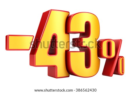 -43 percent on a white background
