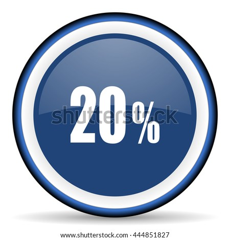 20 percent round glossy icon, modern design web element