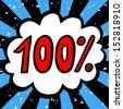 100 percent sale. - stock photo