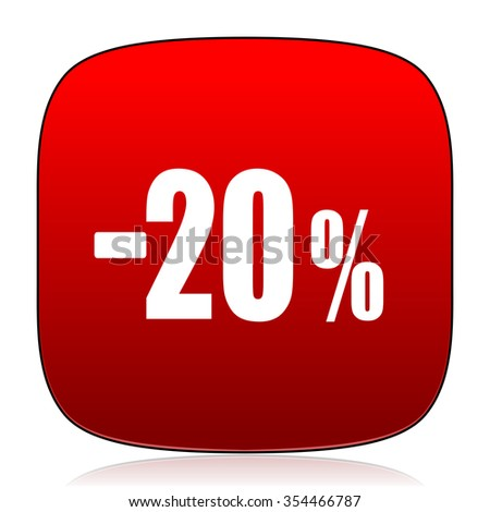 20 percent sale retail icon