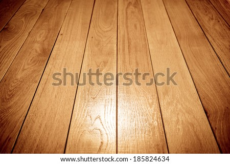 perspective wooden floor background - stock photo