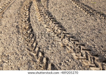 photographed close-up of plowed agricultural field for planting a new crop