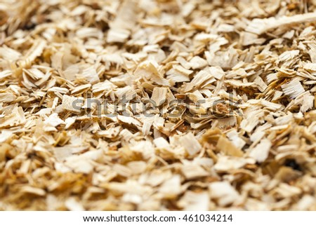 photographed close up sawdust. small depth of field