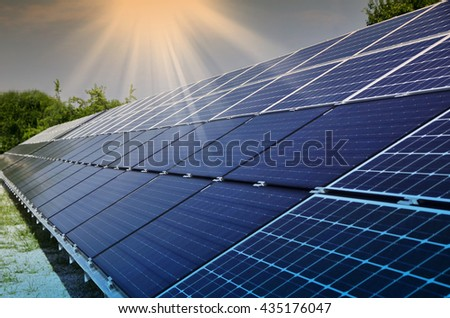 photovoltaic solar modules for producing electricity