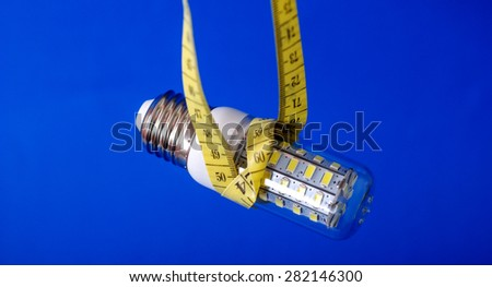 Picture of a  Energy saving LED light bulb  - stock photo