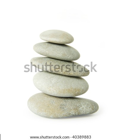 pile of stones isolated on white