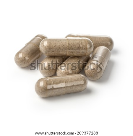 pills - medical background. with clipping path - stock photo