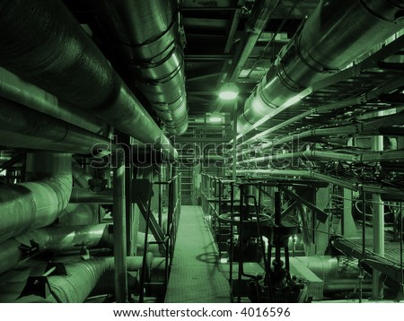 pipelines on power plant