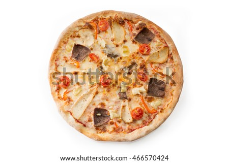pizza on a white background isolated