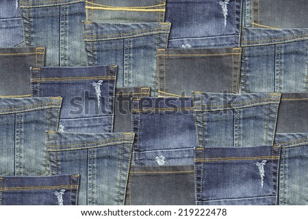 pockets jeans background - stock photo