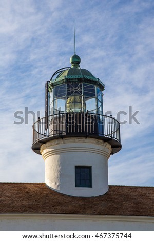 Point Loma  lighthouse lamp