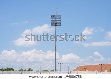 pole with clear blue sky - stock photo