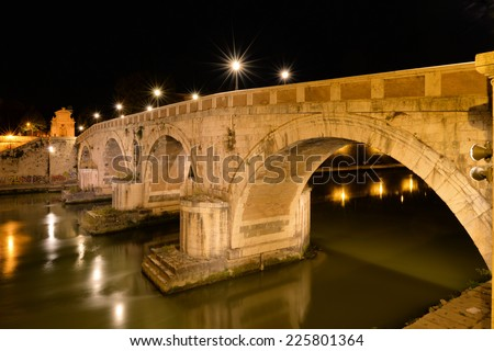 """Ponte Sisto"" is a footbridge in Rome's historic centre, spanning the river Tiber"