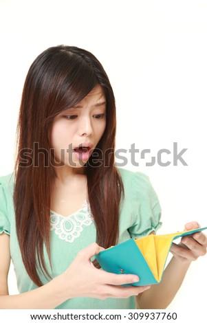 poor woman - stock photo