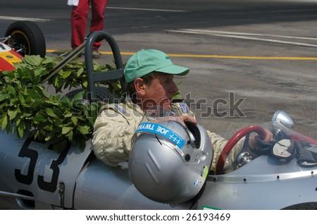 PORTO, PORTUGAL - JULY 26: Joe Twyw , winner in the GRAND PRIX HISTORY OF PORTO on July 26, 2005 in Porto, Portugal. - stock photo