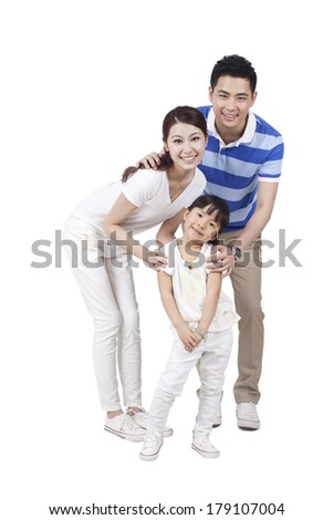 Portrait of a happy family with one child
