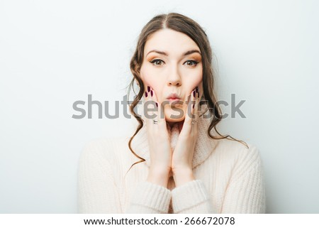 portrait of an attractive young woman suffering from toothache - stock photo