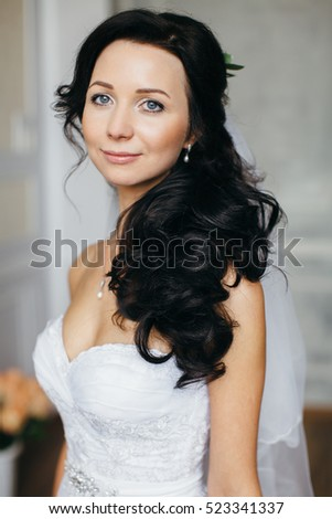 Portrait of the bride in the Studio