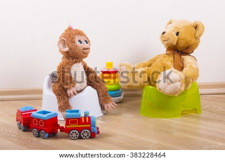 potty training teddy toy monkey