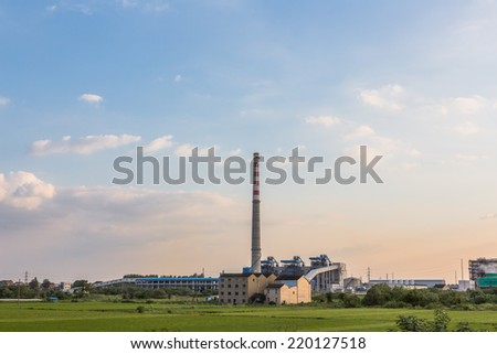 power station in the sunset, shanghai china.